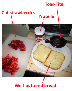 nutellastrawberriestoastite