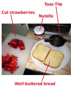 nutellastrawberriestoastite